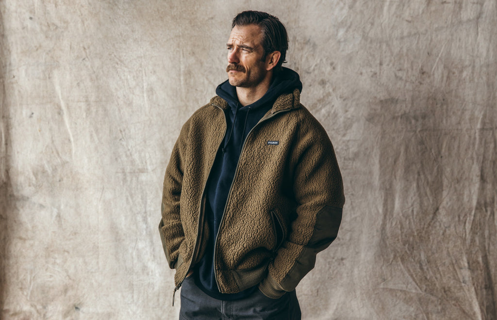 Filson Sherpa Fleece Jacket, Marsh Olive