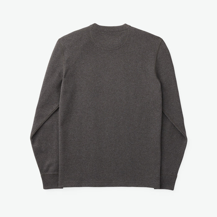 Waffle Knit Thermal Crew, Charcoal