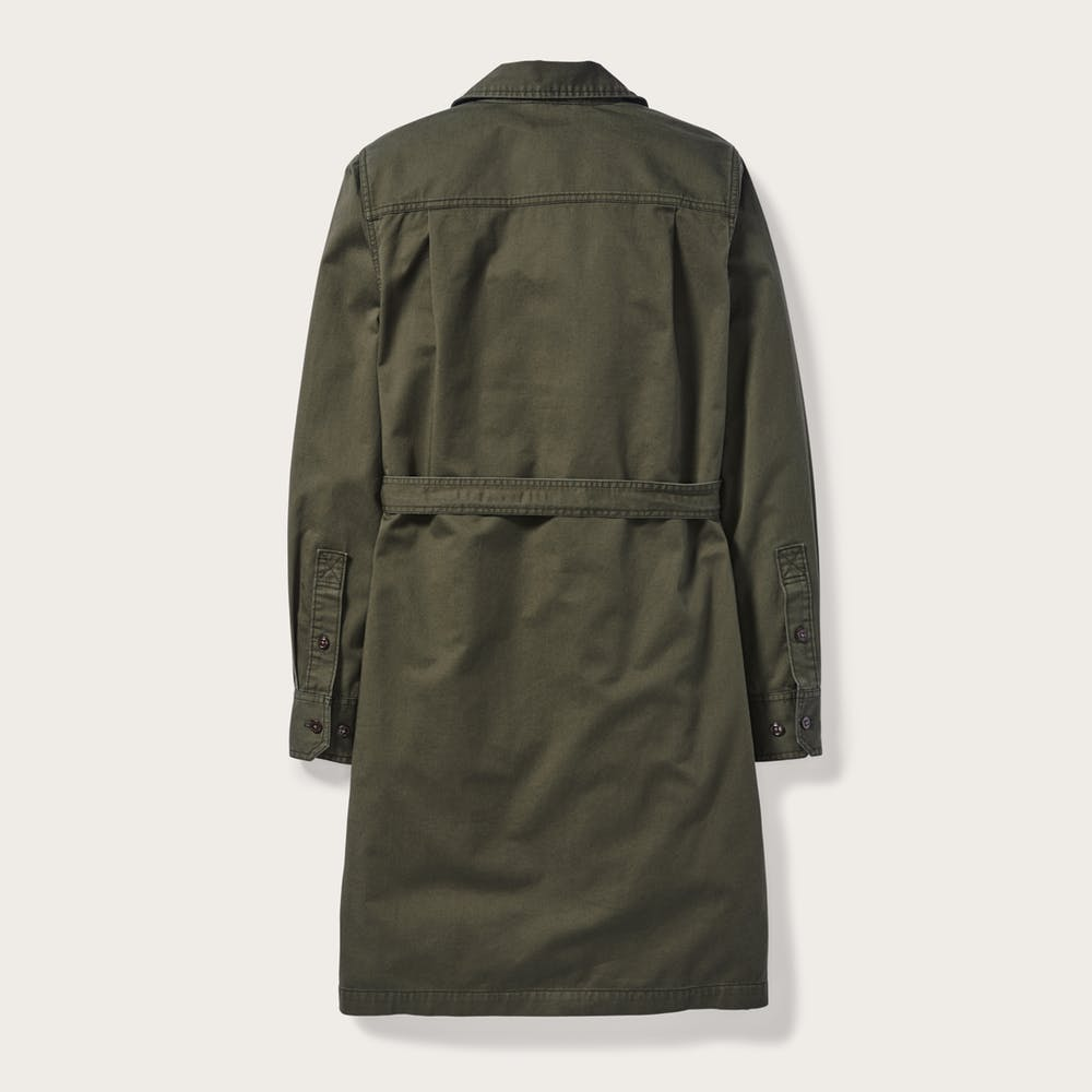 Filson Colville Twill Shirt Dress, Olive
