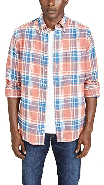 Gitman California Brushed Triple Yarn Shirt, Peach