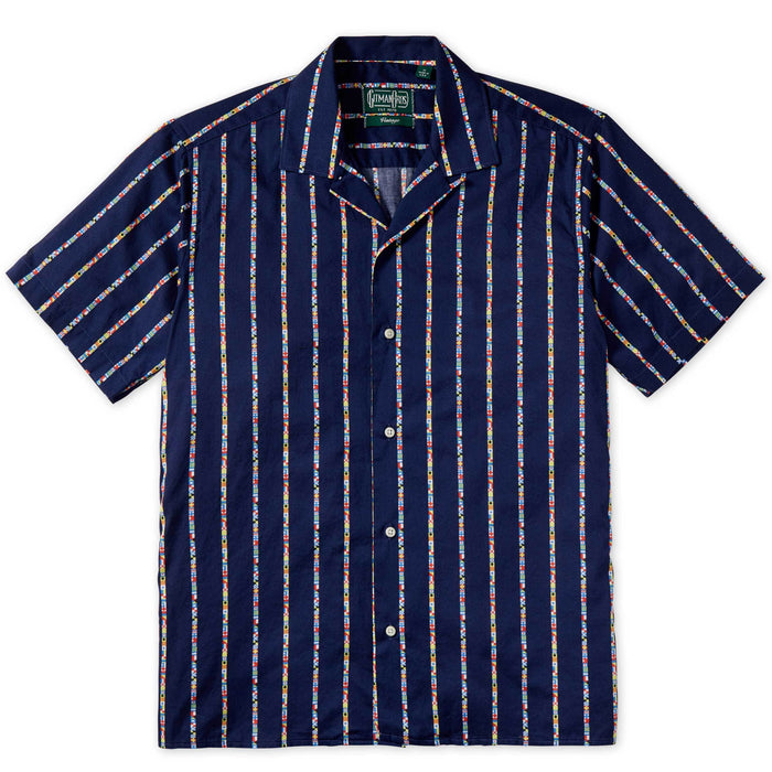 Gitman Bros. Button Down Shirt, Maritime Message Navy
