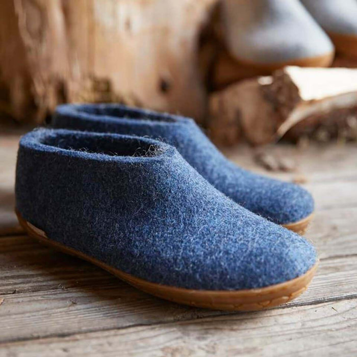 Glerups Shoe with Rubber Sole in Honey, Denim