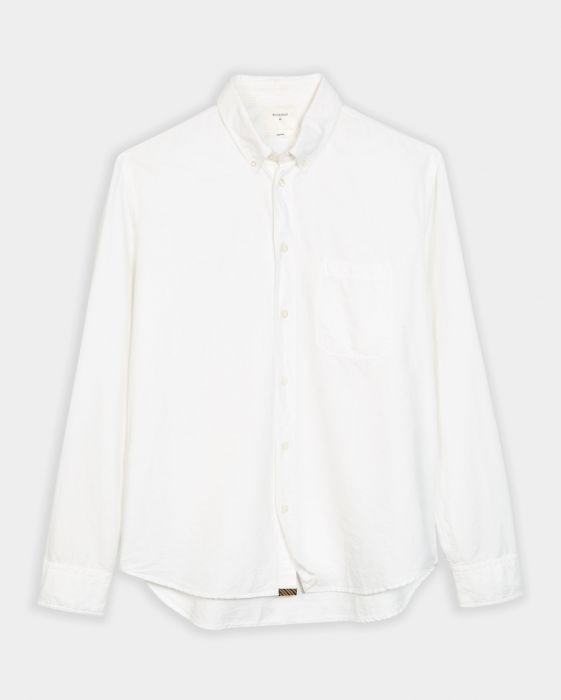 Billy Reid Washed Oxford Tuscumbia Shirt, White
