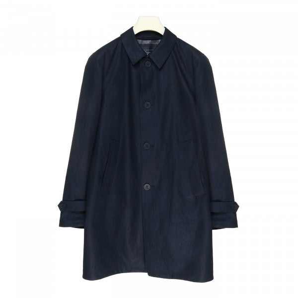 Herno Linen Waterproof Raincoat , Blue
