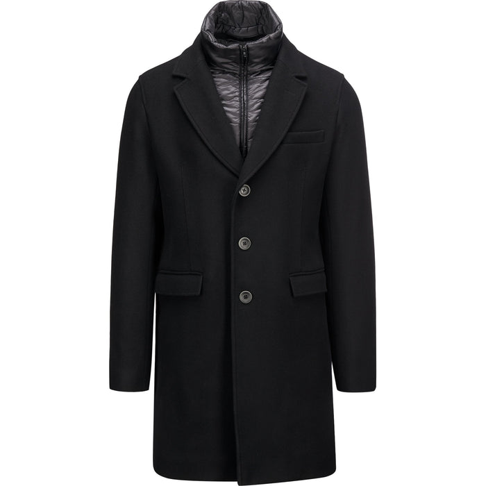 Herno Diagonal Wool Coat (CA0045U), Black
