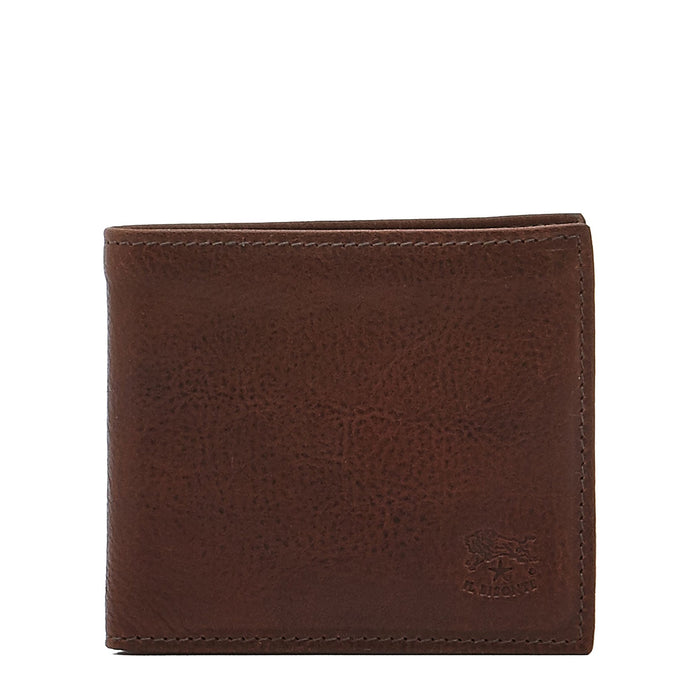 Il Bisonte Men's Bi-Fold Wallet in Vintage Cowhide Leather (C0437), Dark Brown (567)