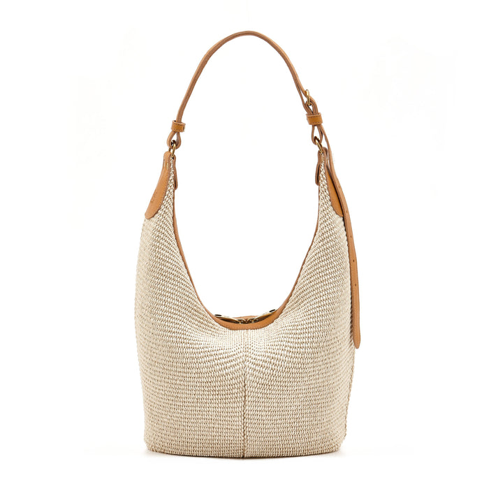 Il Bisonte Multi Fabric Hobo Bag, Natural