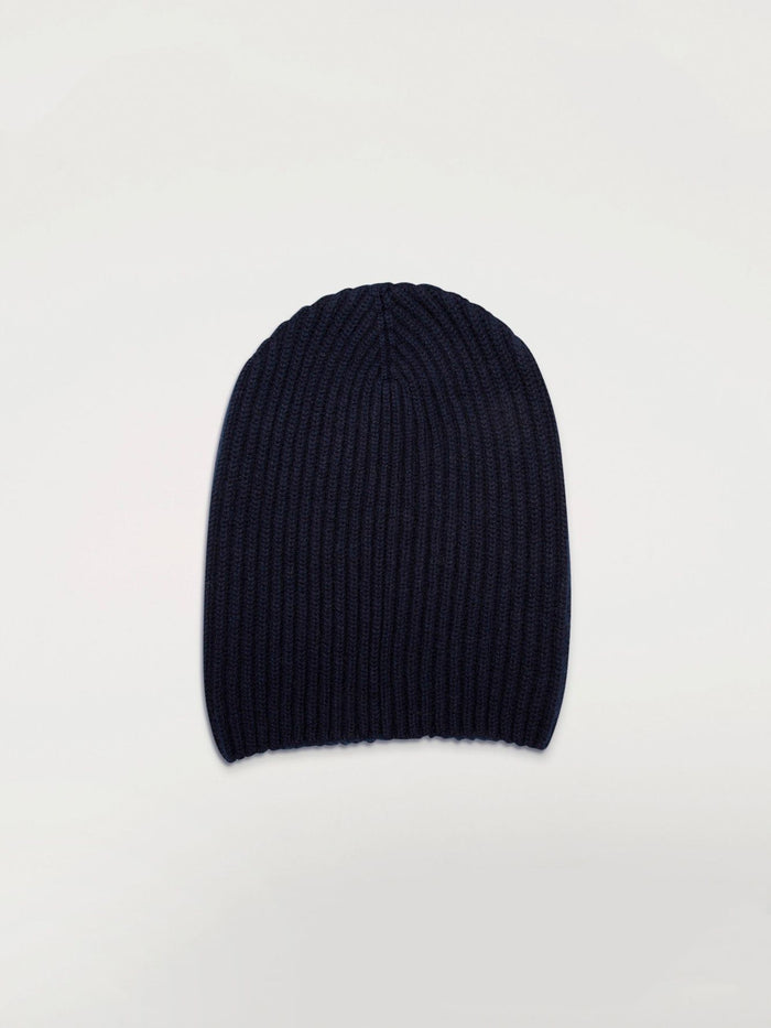 Begg & Co Cashmere Alex Beanie, Dark Navy