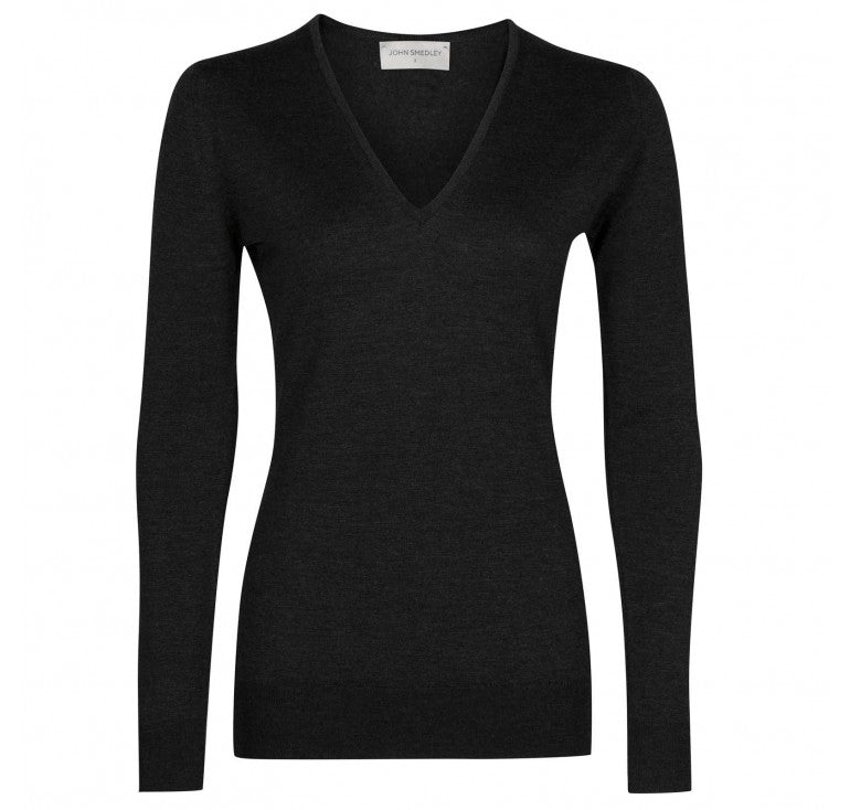 John Smedley Orchid Sweater V-Neck Sweater (+colors)