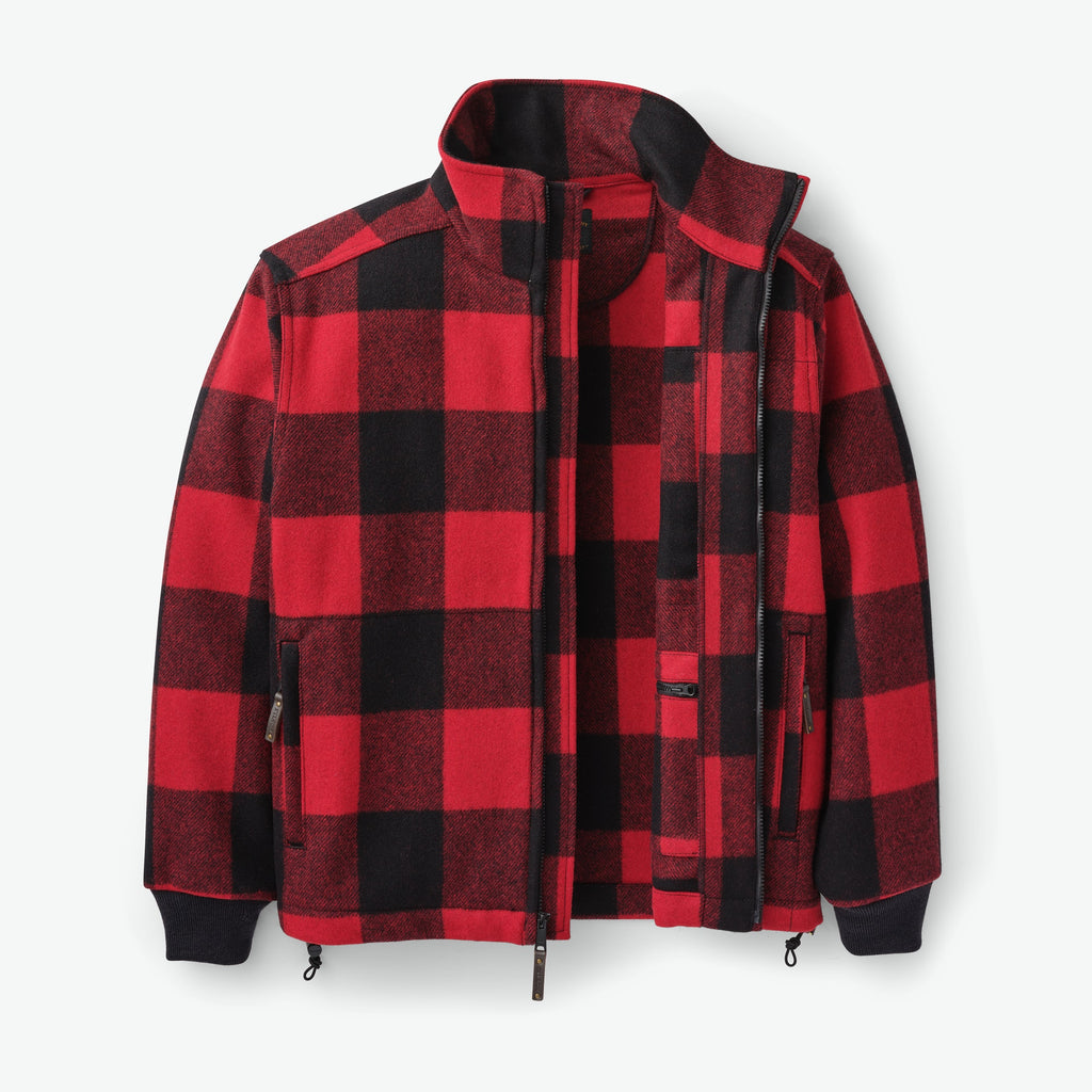Filson Mackinaw Wool Field Jacket , Red Black Check
