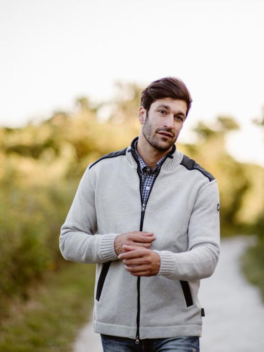Holebrook Mike Full Zip WP, Light Grey w/ Navy
