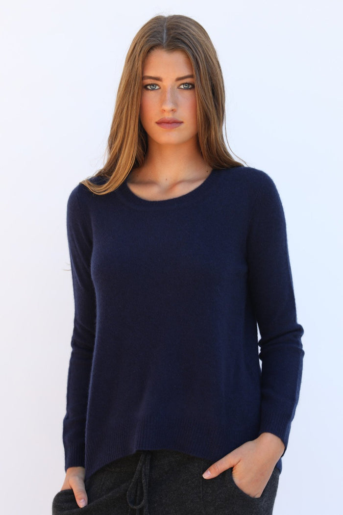 Oats Cashmere Kendra Sweater, Navy
