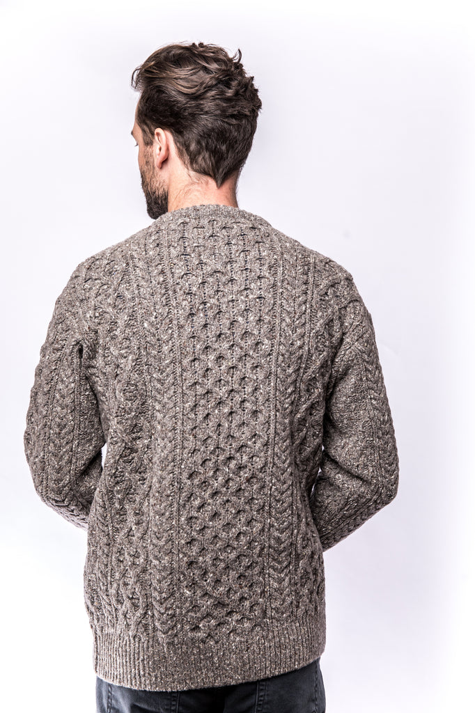 Portland Dry Goods Carraig Luxe Aran Sweater rocky ground
