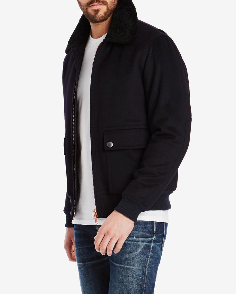 Private White Flight Jacket, Navy