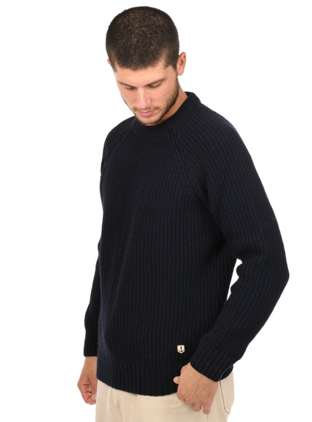 Armor Lux Pull Col Rond Heritage, Rich Navy