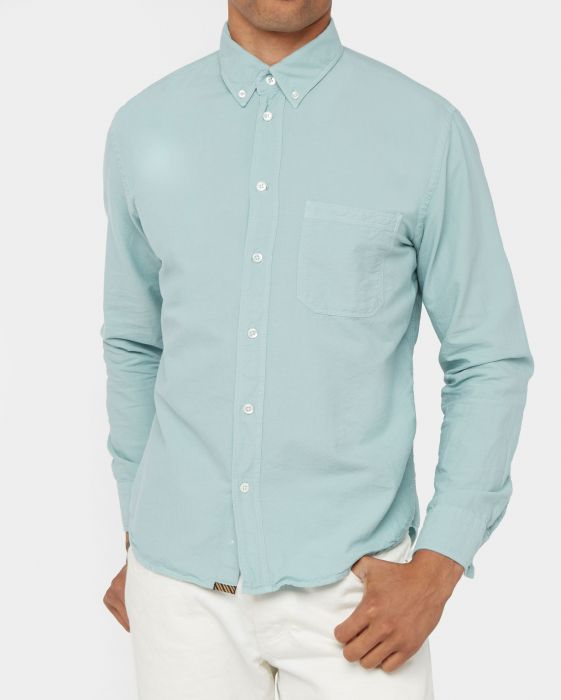 Billy Reid Washed Oxford Tuscumbia Shirt, Seafoam