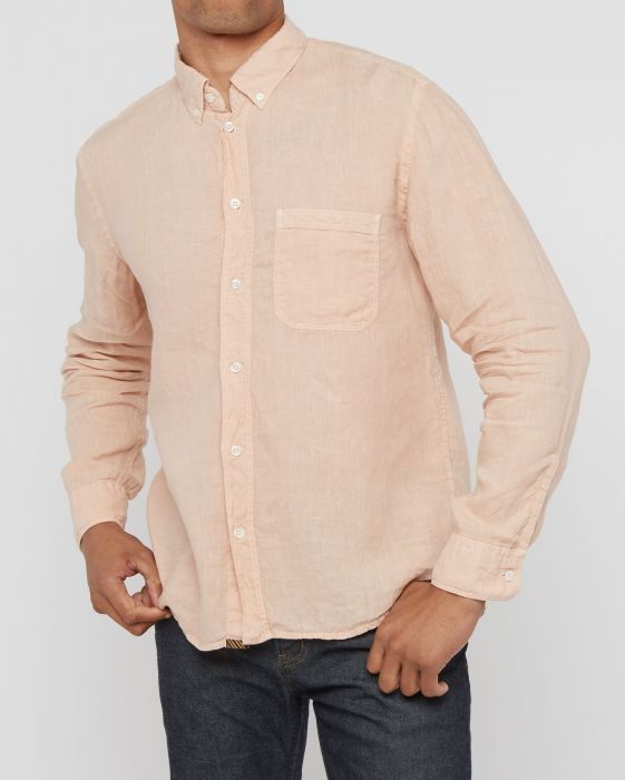 Billy Reid Tuscumbia Linen Shirt , Blush