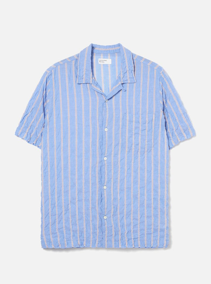 Universal Works Road Shirt, Pale Blue