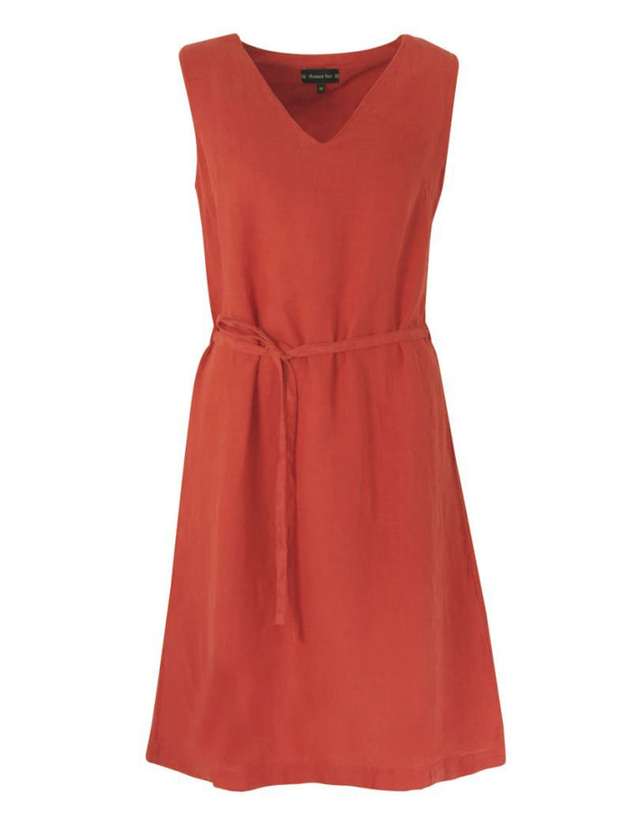 Armor-Lux Sleeveless Linen Dress (78327), Sunset