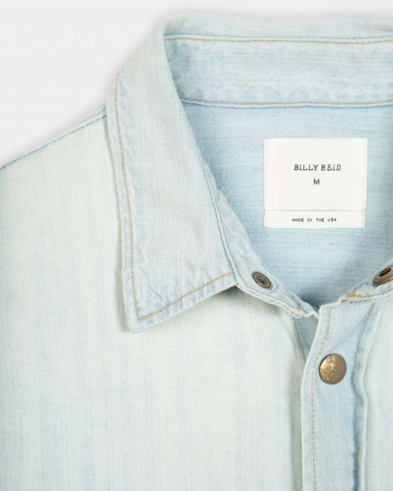 Billy Reid Denim Shirt Bleach Wash, Bleach Wash