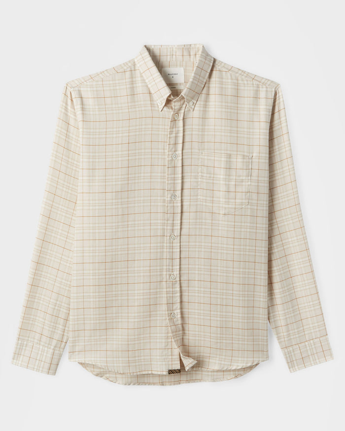 Billy Reid Offset Pocket Shirt, Tan/Natural