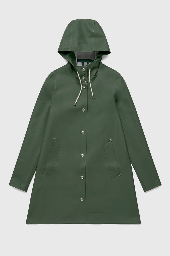 Stutterheim Mosebacke Raincoat, Solid Green