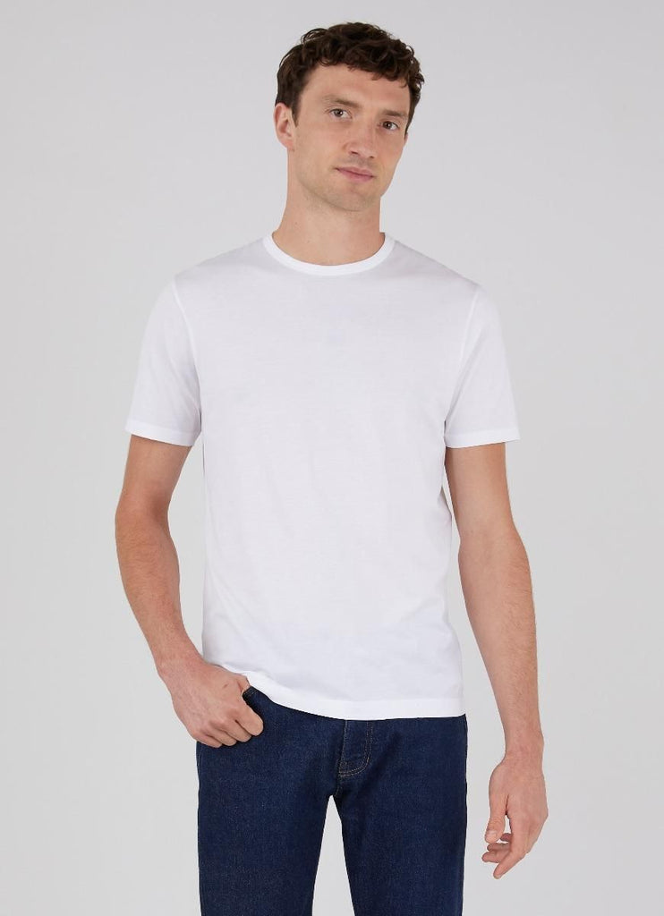 Sunspel Classic Cotton SS Crewneck, White