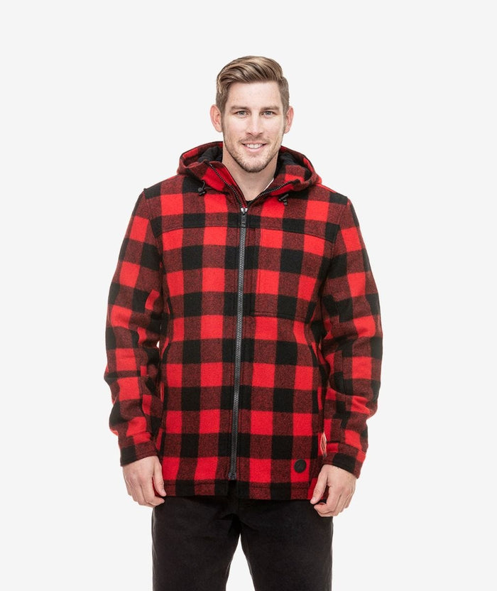 Swanndri Hudson Hoody , Red/Black Check
