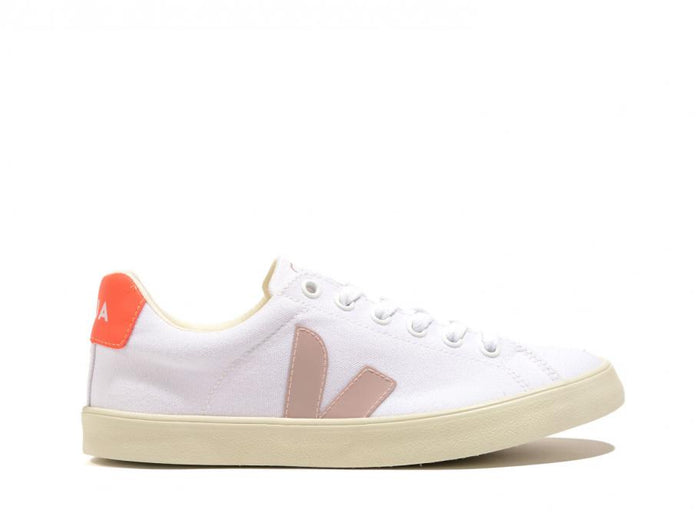 Veja Esplar SE Canvas, White/Babe/Orange Fluo
