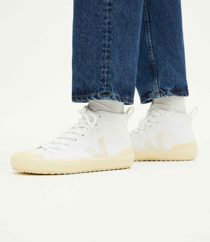 Veja Women's Nova HT Canvas, White/Butter Sole