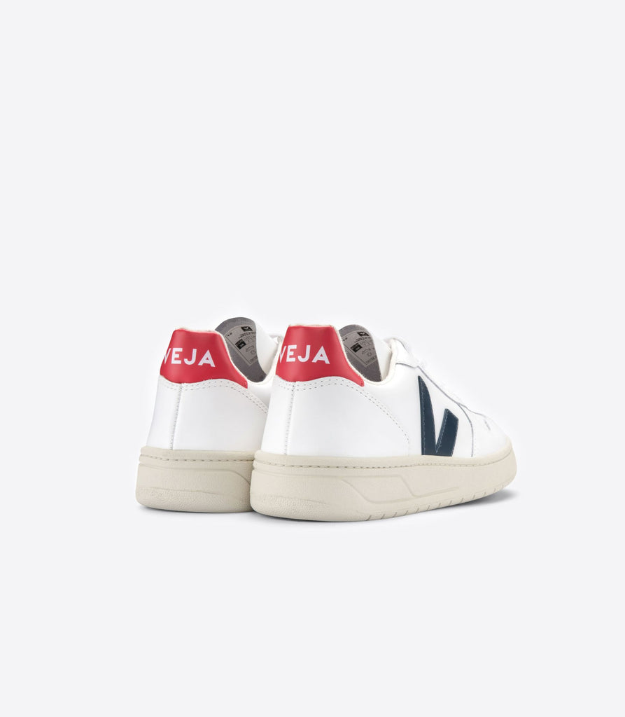 Veja Women's V-10 Leather, Extra White/Nautico/Pekin