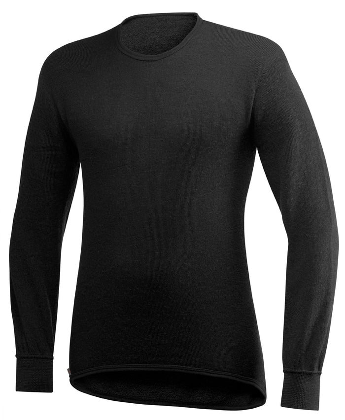 Wool Power Crewneck Sweater 200, Black