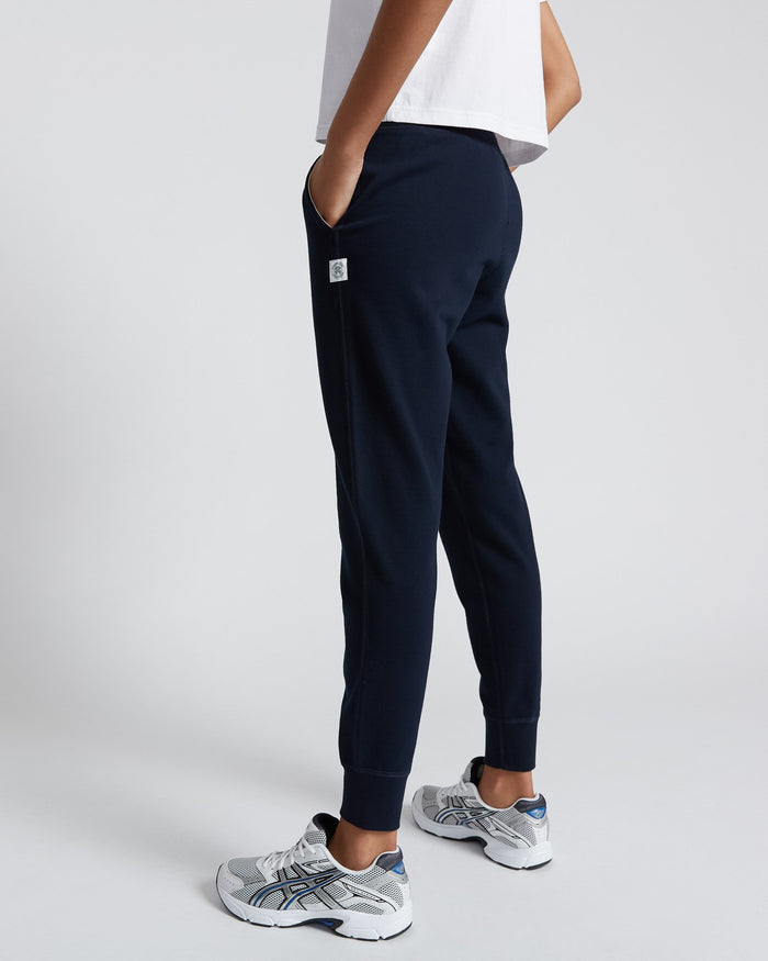 Reigning Champ Women's Knit Pima Terry Slim Sweatpant, Navy