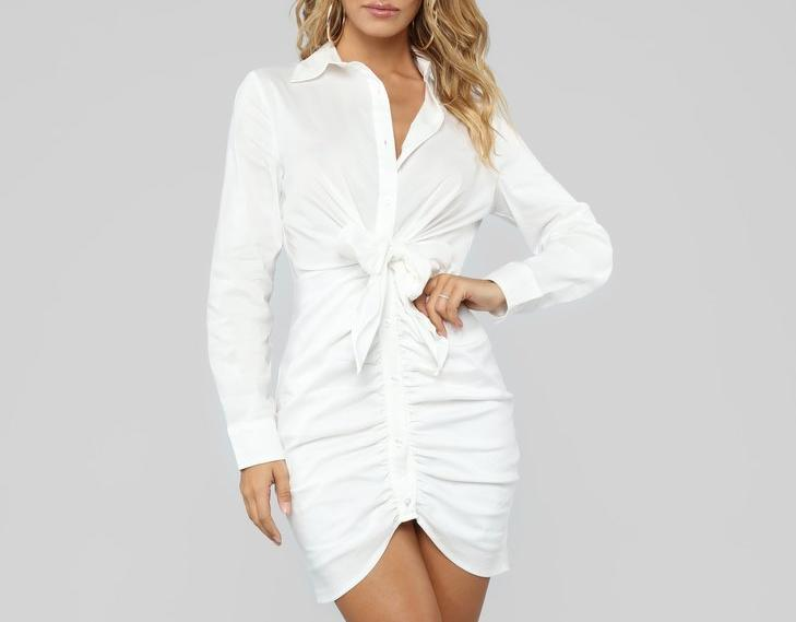 SANDALWOOD DRESS IN WHITE
