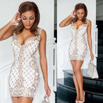 KRISTINE DRESS IN WHITE WITH GOLD