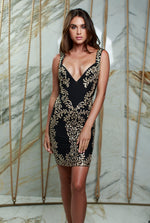 BENNU DRESS BLACK WITH GOLD