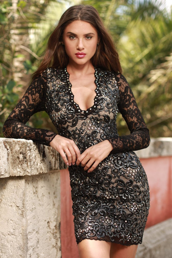 DIVORA LACE DRESS IN BLACK - MORE COLORS