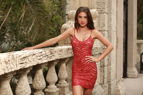 MARIELLA LACE DRESS IN RED - 4 COLORS