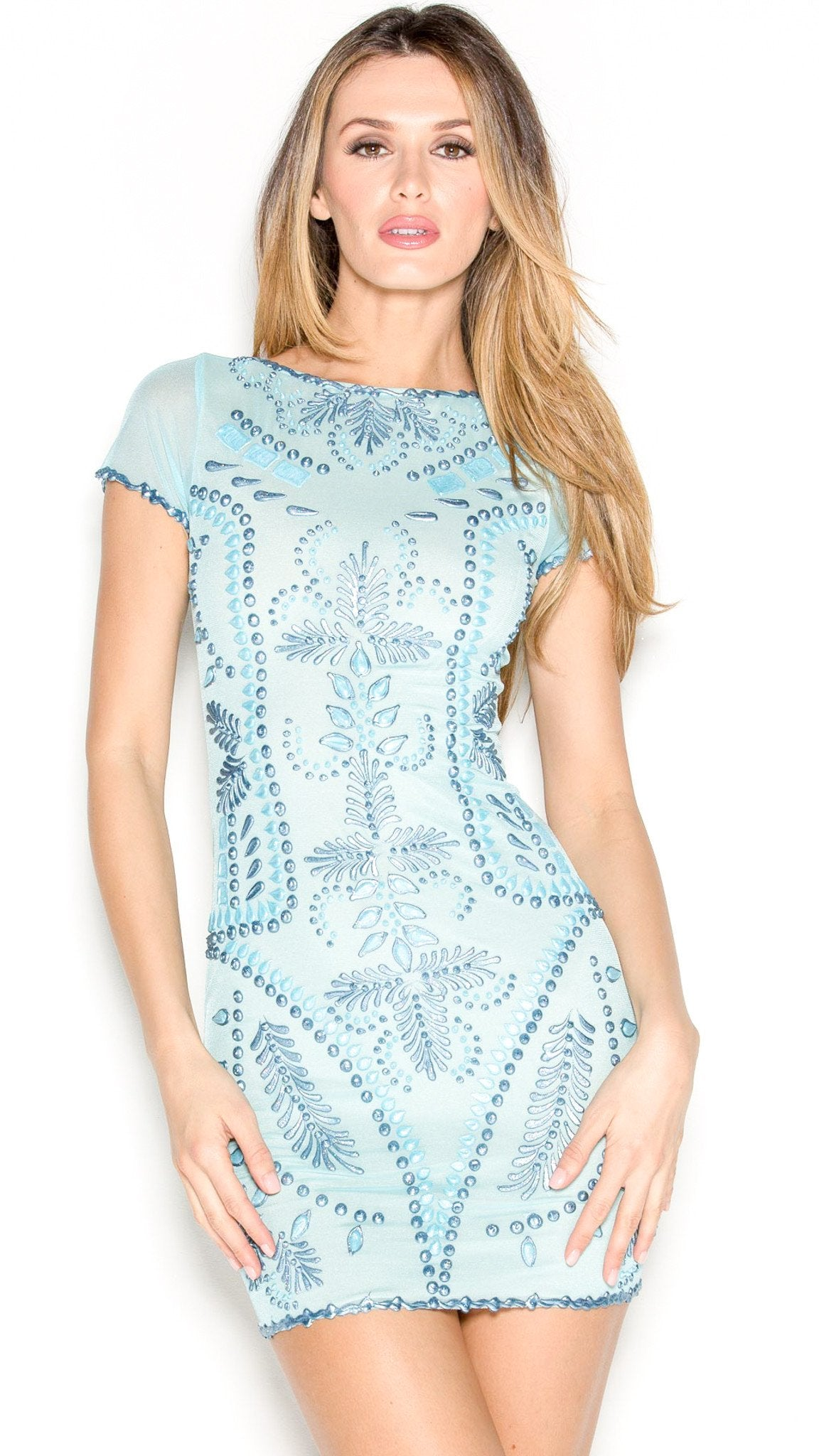 MEITAL DRESS IN BABY BLUE