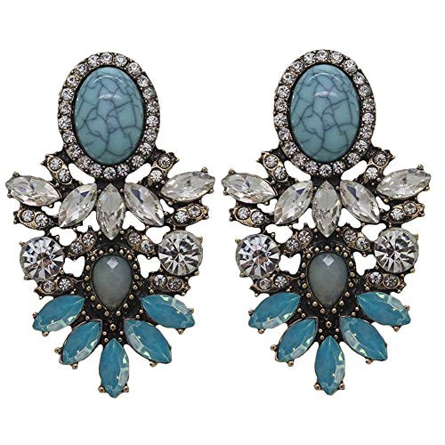 BOHO CRYSTAL EARRINGS - 3 COLORS
