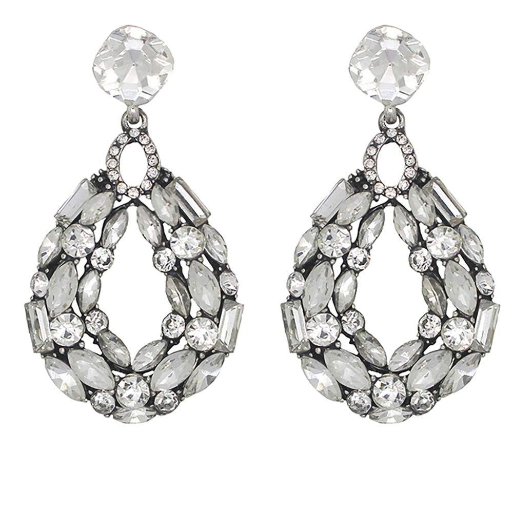 CLUSTER CRYSTAL EARRINGS