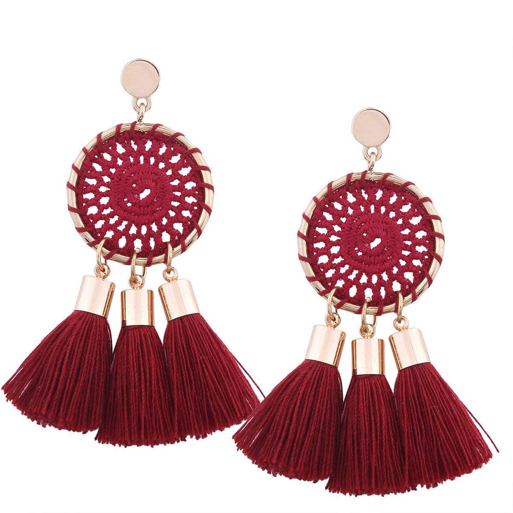 BOHO TASSEL EARRINGS - 7 COLORS