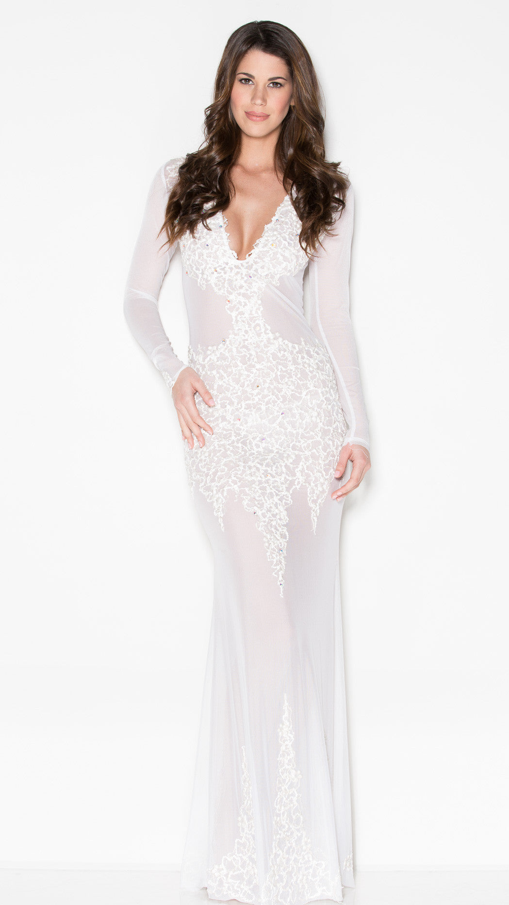 BEYONCE GOWN IN WHITE - HOLT