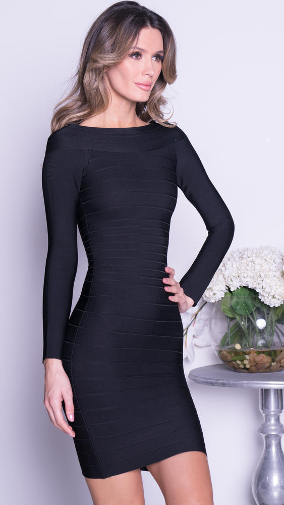 COOPER BANDAGE DRESS IN BLACK