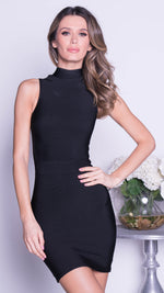 AKIMY BANDAGE DRESS IN BLACK