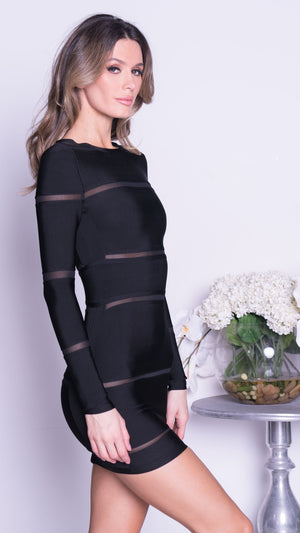 BARA BANDAGE DRESS IN BLACK