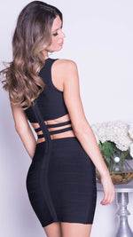 RYAN BANDAGE DRESS IN BLACK