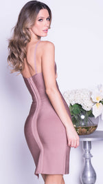 LONDON BANDAGE DRESS IN MOCHA