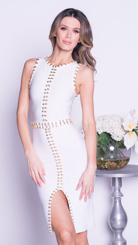 MORGAN BANDAGE DRESS - 2 COLORS