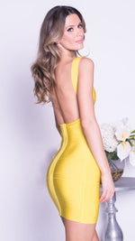 MARCY BANDAGE DRESS IN YELLOW - 5 COLORS
